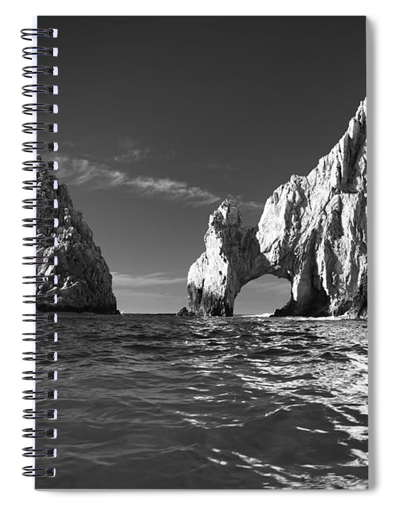 Los Cabos Spiral Notebook featuring the photograph Cabo In Black And White by Sebastian Musial