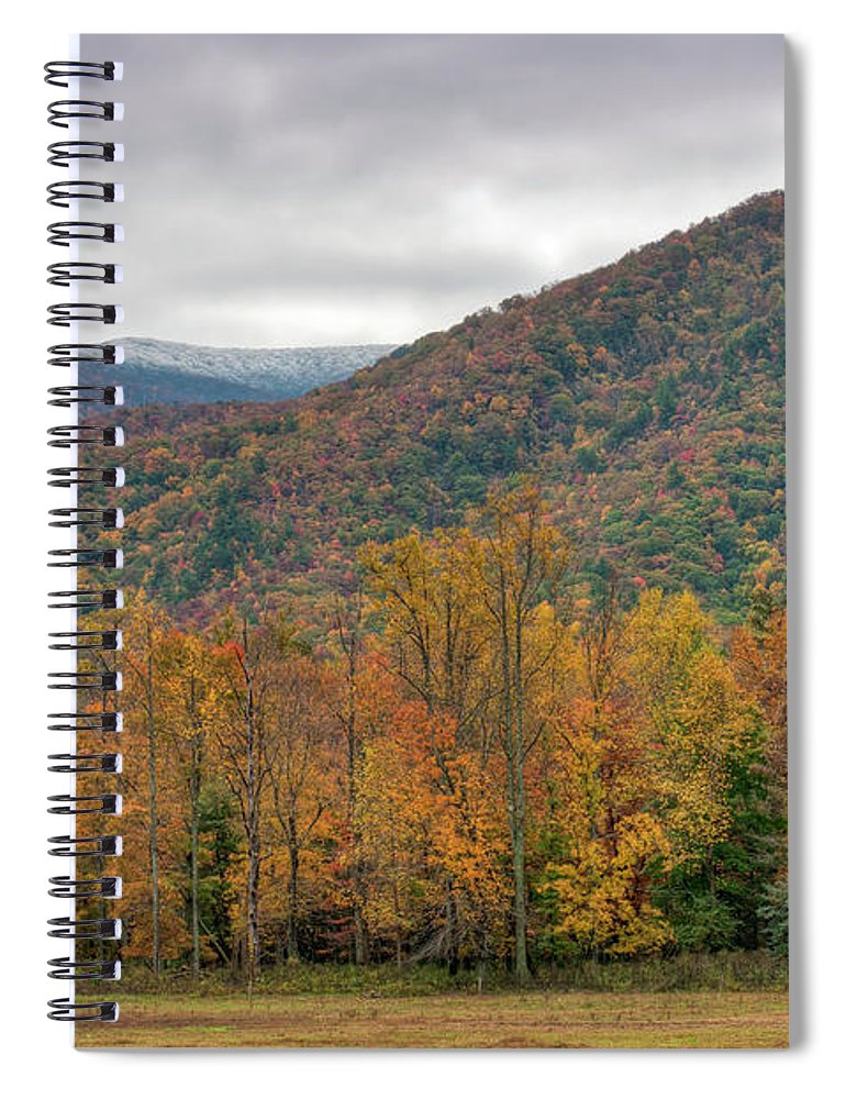 Scenics Spiral Notebook featuring the photograph Cades Cove, Great Smoky Mountains by Fotomonkee