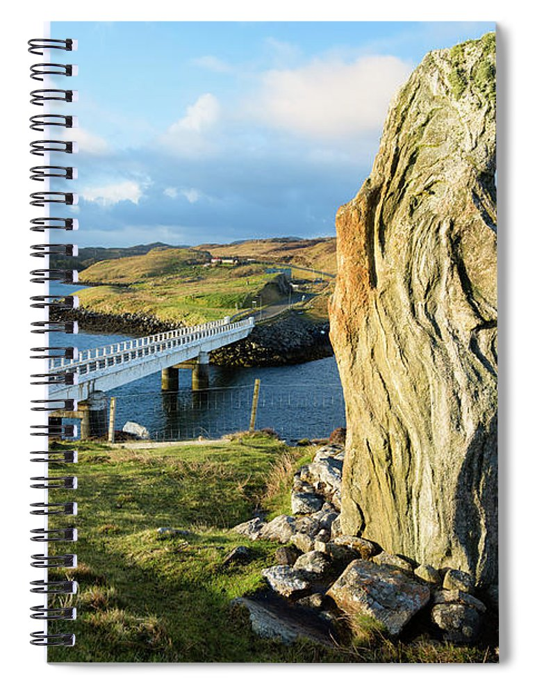 Prehistoric Era Spiral Notebook featuring the photograph Callanish Viii Standing Stone, Isle Of by Theasis