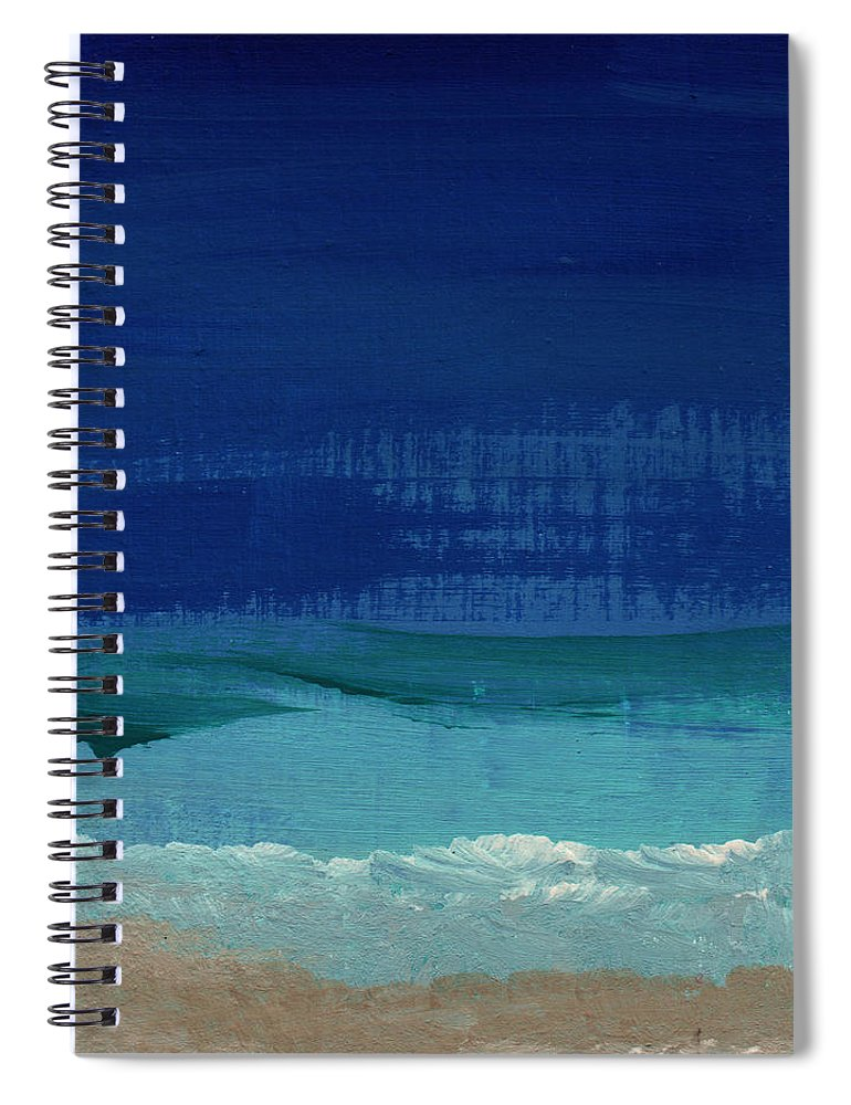 Abstract Art Spiral Notebook featuring the painting Calm Waters- Abstract Landscape Painting by Linda Woods