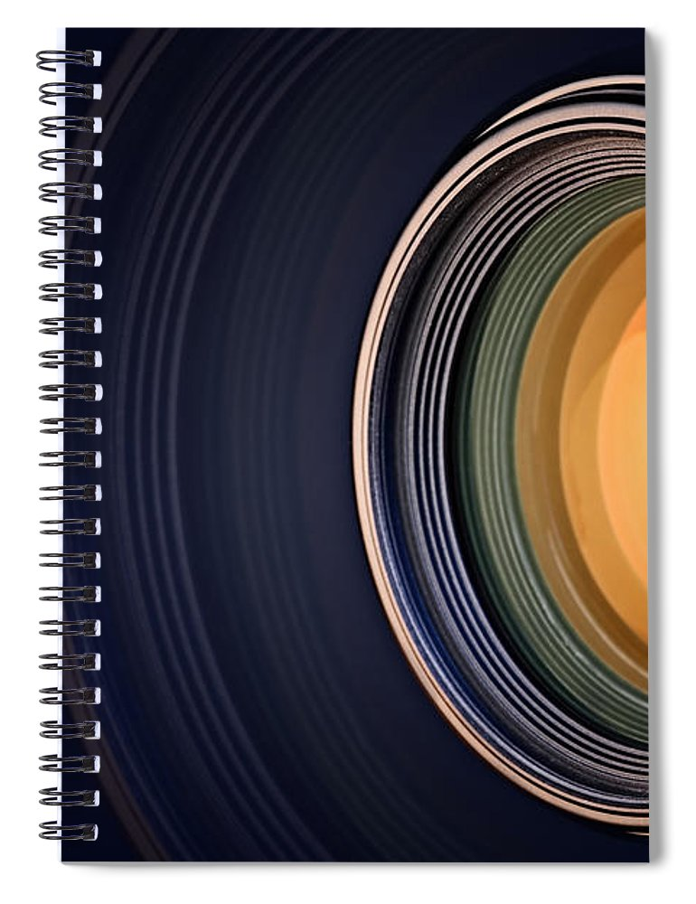 Lens Spiral Notebook featuring the photograph Camera Lens Background by Johan Swanepoel