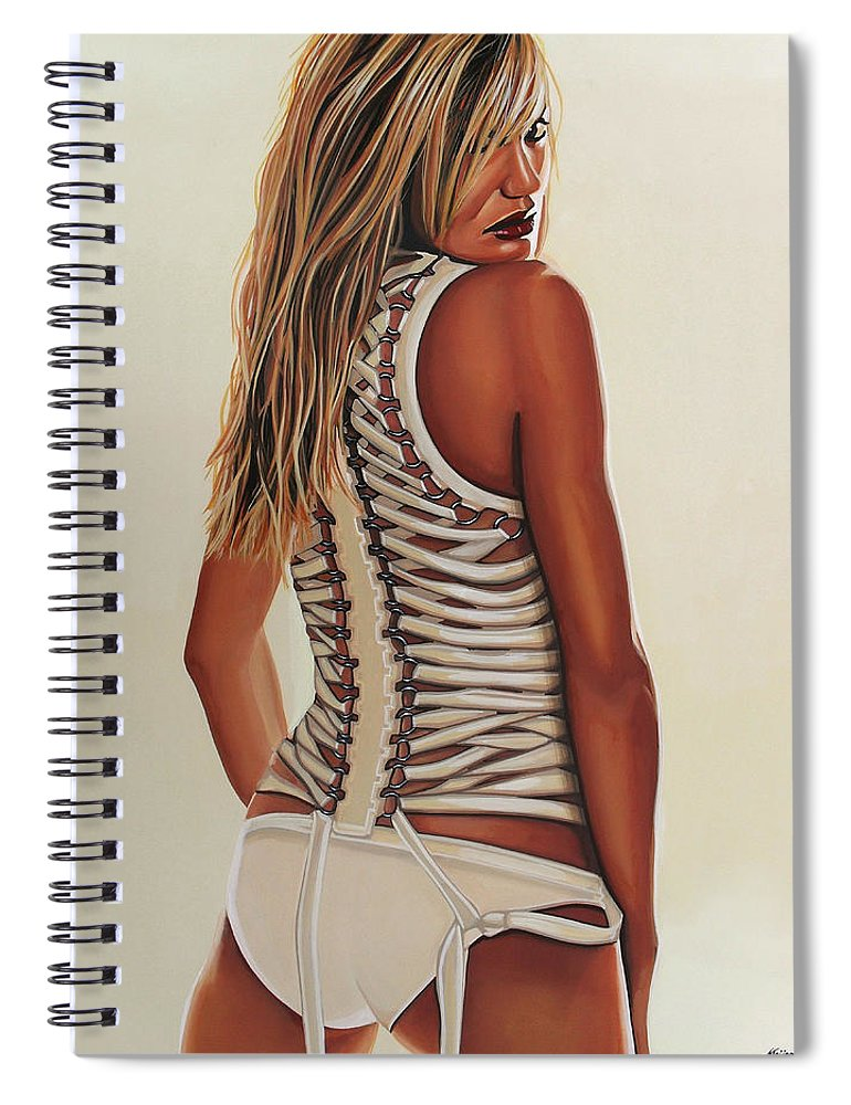 Cameron Diaz Spiral Notebook featuring the painting Cameron Diaz Painting by Paul Meijering
