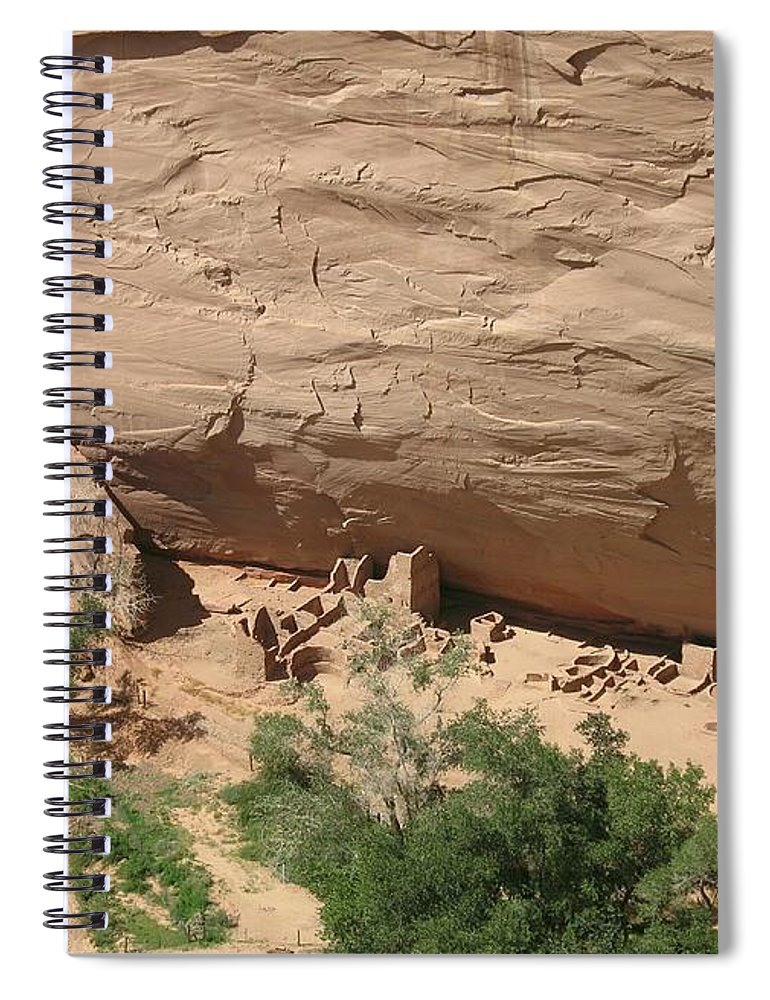 Canyon Spiral Notebook featuring the photograph Canyon De Chelly Ruins by Christiane Schulze Art And Photography