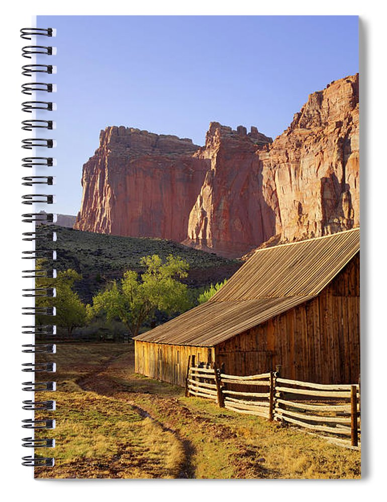Utah Spiral Notebook featuring the photograph Capitol Barn by Chad Dutson