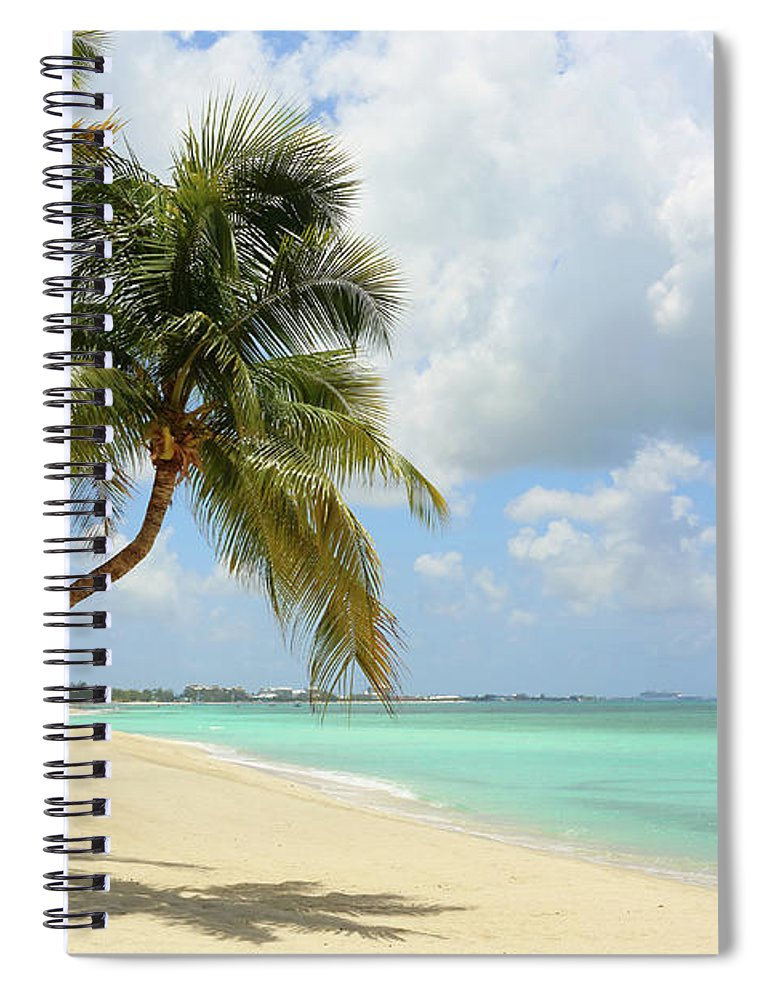Scenics Spiral Notebook featuring the photograph Caribbean Dream Beach by Shunyufan