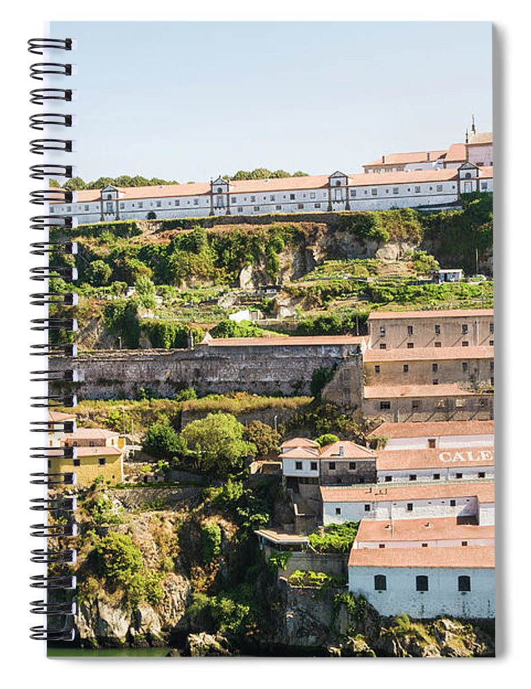 Clear Sky Spiral Notebook featuring the photograph Casa Calem, Port Wine Houses, Porto by John Harper
