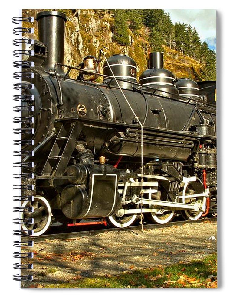 Newhalem Spiral Notebook featuring the photograph Cascade Mountain Train by Adam Jewell