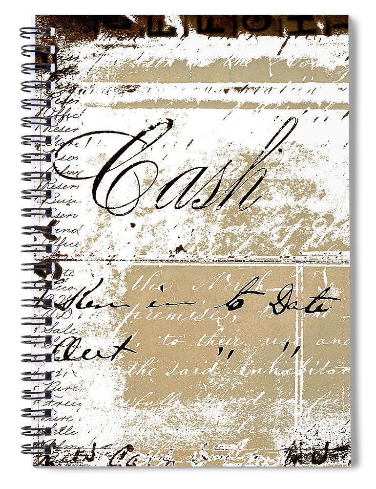 Collage Spiral Notebook featuring the Cash by Carol Leigh