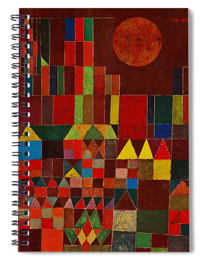 Castle And Sun Spiral Notebook For Sale By Paul Klee