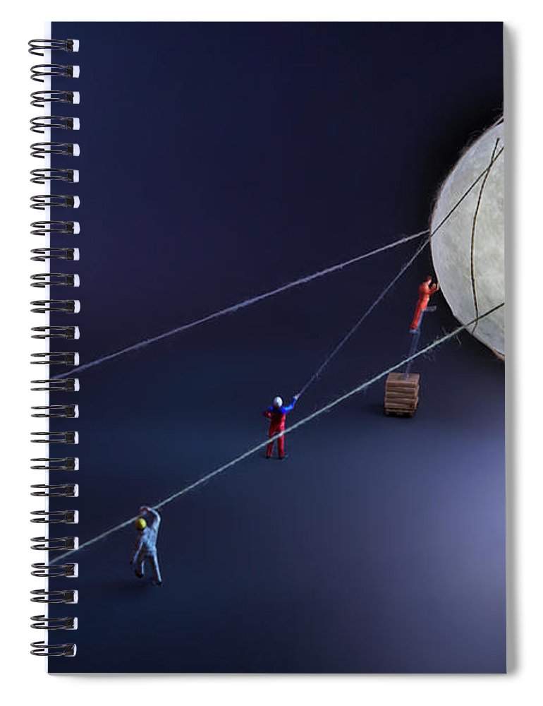 Planetary Moon Spiral Notebook featuring the photograph Catch The Moon by Antonio Iacobelli