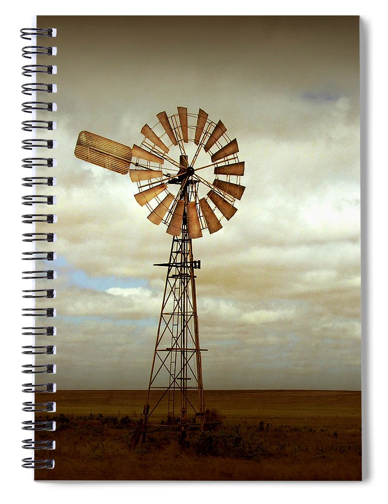 Windmill Spiral Notebook featuring the photograph Catch the Wind by Holly Kempe