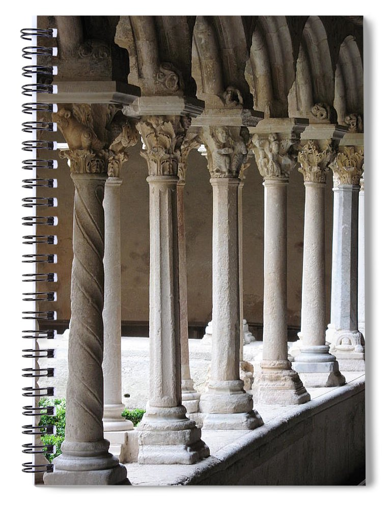 Croos Spiral Notebook featuring the photograph Cathedral St Sauveur - Croos-coat by Christiane Schulze Art And Photography