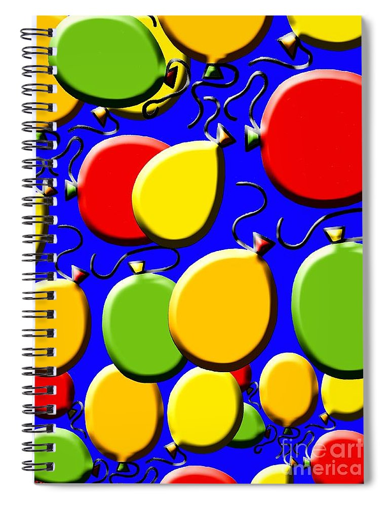 New Year Spiral Notebook featuring the painting Celebrations by Patrick J Murphy