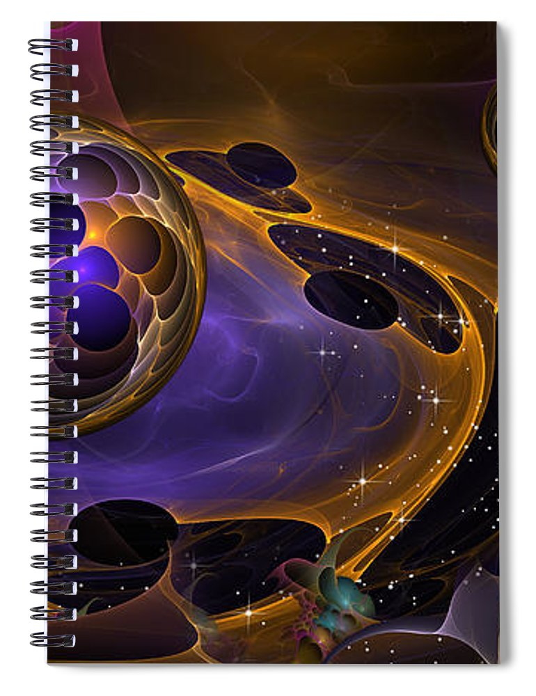 Phil Sadler Spiral Notebook featuring the digital art Cell Forms 2 by Phil Sadler