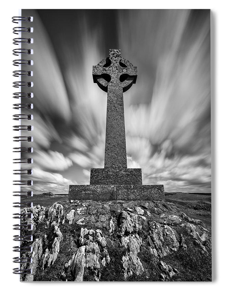 Celtic Cross Spiral Notebook featuring the photograph Celtic Cross by Dave Bowman