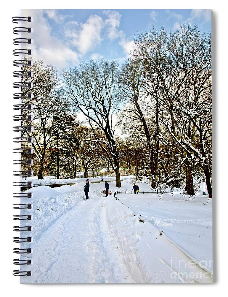Snow Spiral Notebook featuring the photograph Central Park Snow Storm One Day Later2 by Madeline Ellis