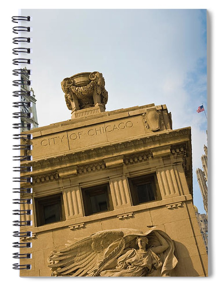Relief Carving Spiral Notebook featuring the photograph Chicago by Jmsilva