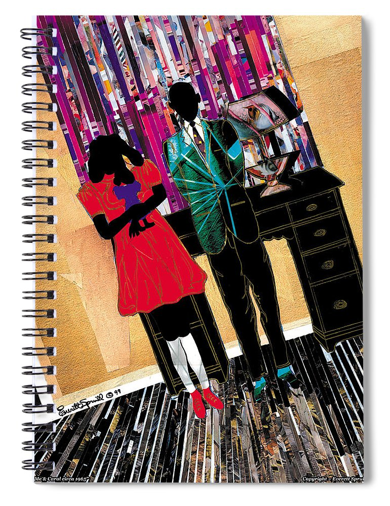 Everett Spruill Spiral Notebook featuring the painting Me and Carol by Everett Spruill