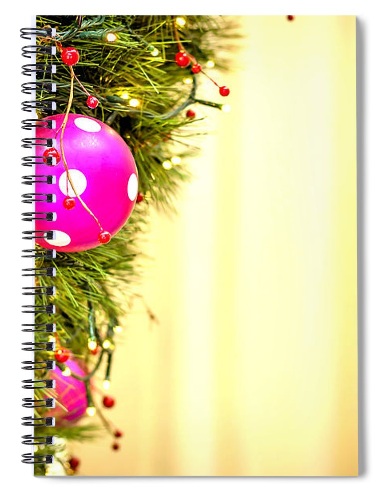 Christmas Spiral Notebook featuring the photograph Christmas Decoration by Jijo George