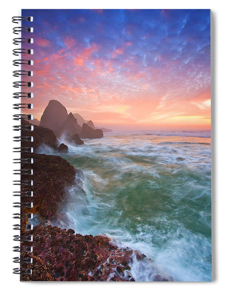 Oregon Spiral Notebook featuring the photograph Christmas Eve Sunset by Darren White