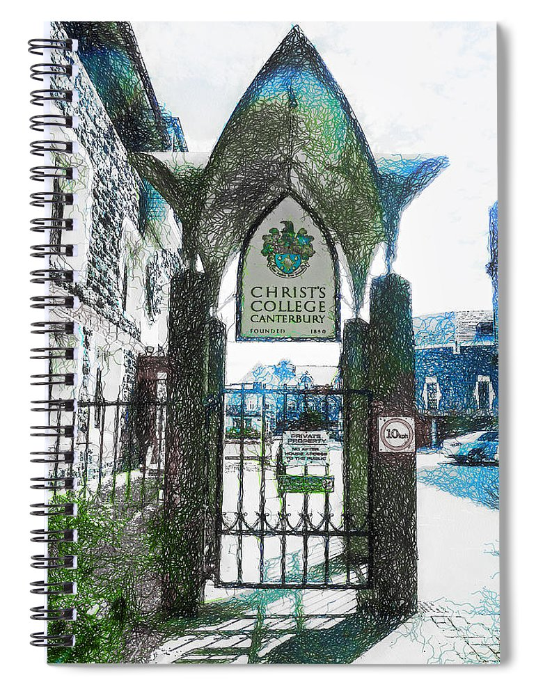 Christ's Spiral Notebook featuring the photograph Christ's College Canterbury by Steve Taylor