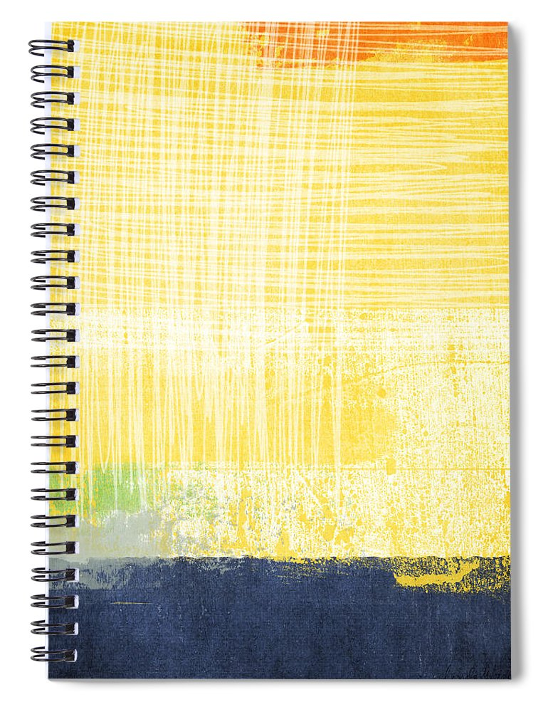 Abstract Painting Spiral Notebook featuring the painting Circadian by Linda Woods