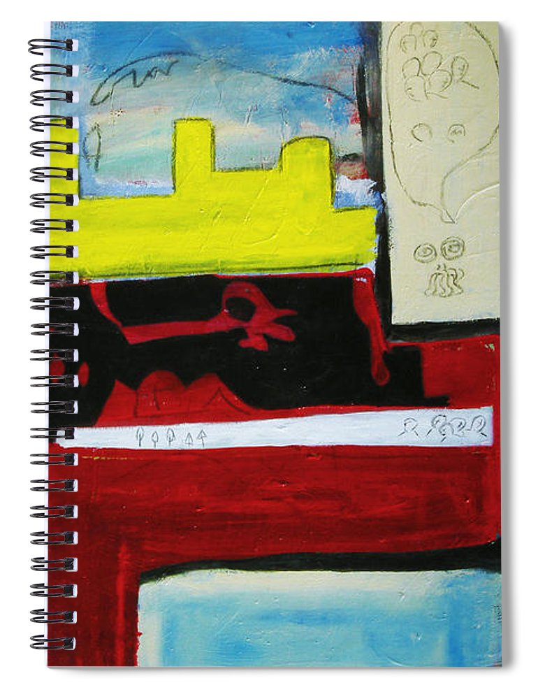 Painting Spiral Notebook featuring the painting City Life by Jeff Barrett