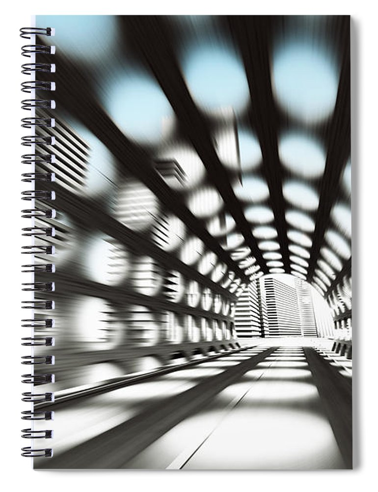 Outdoors Spiral Notebook featuring the digital art Cityscape by Jorg Greuel