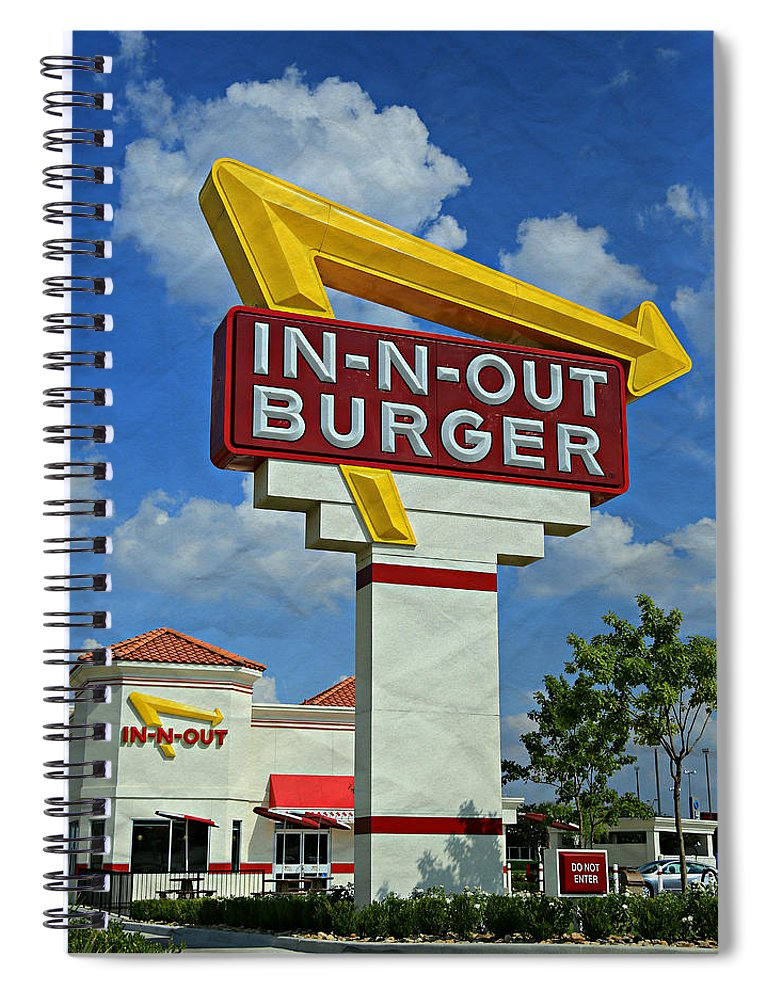 50s Spiral Notebook featuring the photograph Classic Cali Burger 1.1 by Stephen Stookey