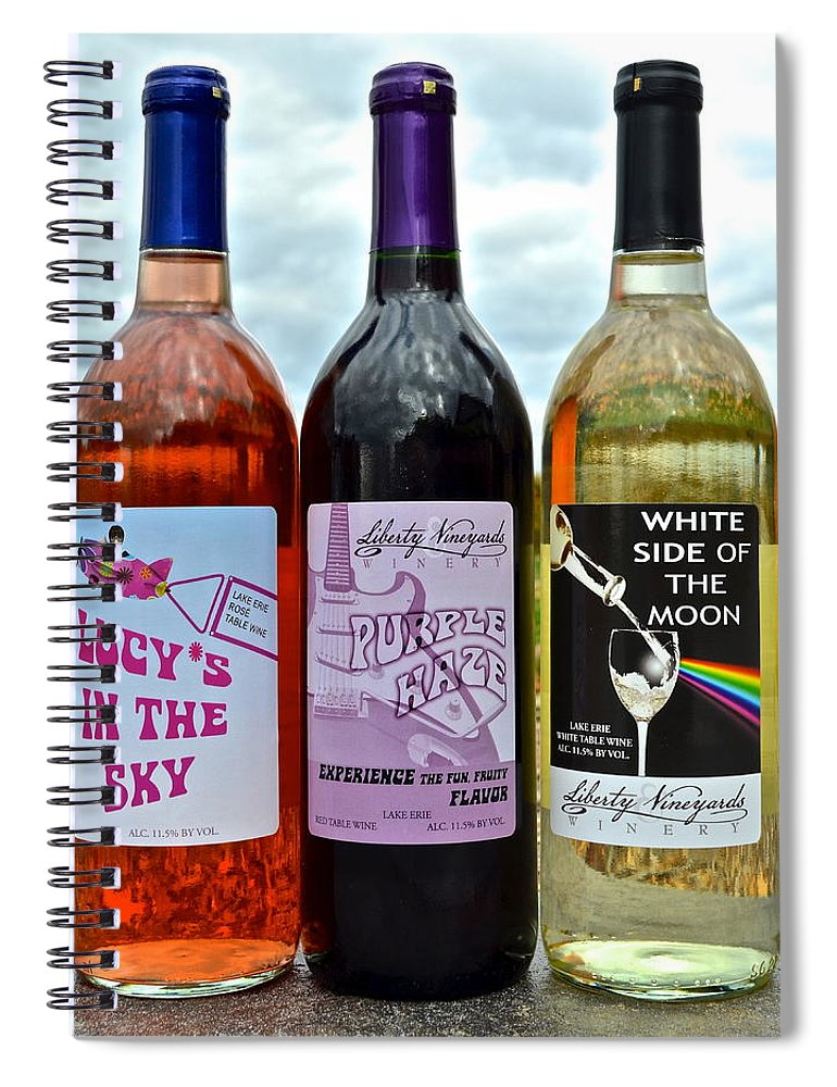 Classic Spiral Notebook featuring the photograph Classic Rock Classic Wine by Frozen in Time Fine Art Photography