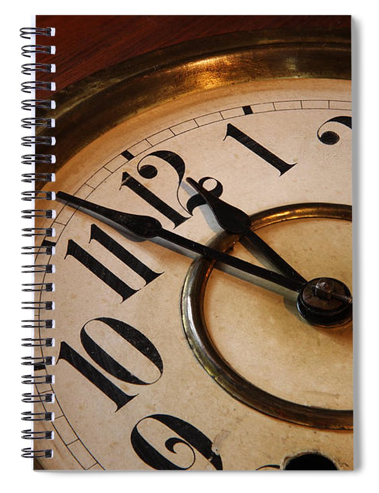 Very Spiral Notebook featuring the photograph Clock face by Johan Swanepoel