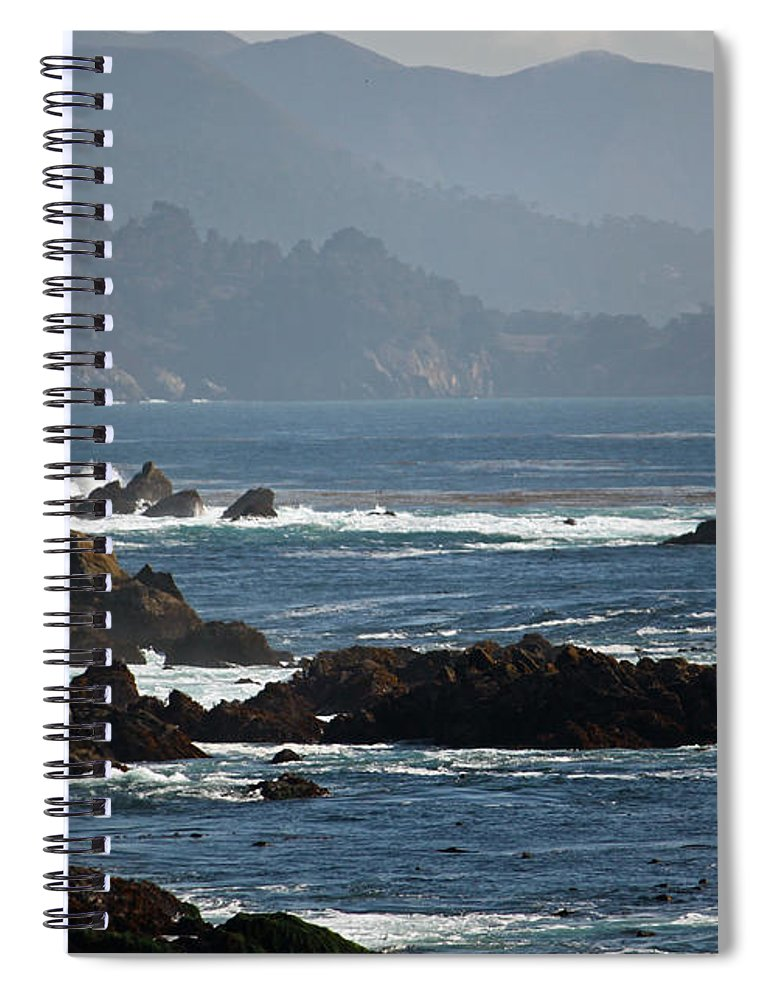 Big Sur Spiral Notebook featuring the photograph Coastal View - Big Sur II by Suzanne Gaff