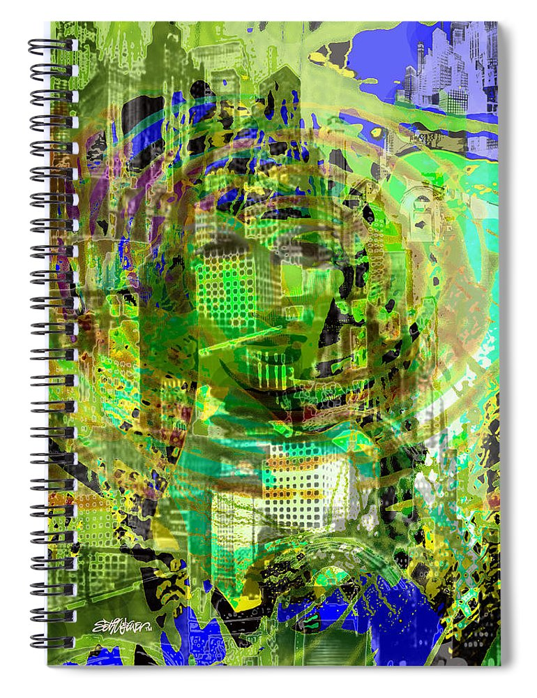 Cobwebs Of The Mind Spiral Notebook featuring the digital art Cobwebs Of the Mind by Seth Weaver