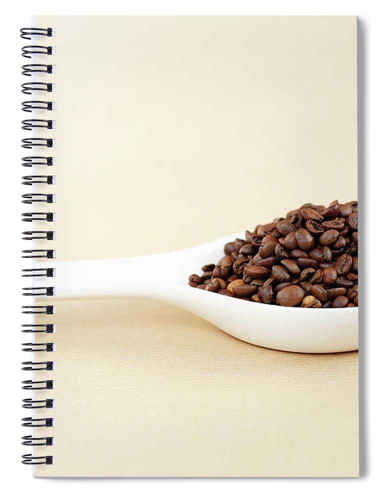 Spoon Spiral Notebook featuring the photograph Coffee Beans by Bbostjan