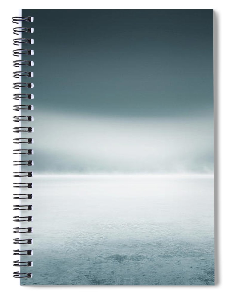 Tranquility Spiral Notebook featuring the digital art Cold Studio Background by Aaron Foster