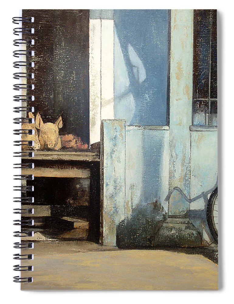Colmado Spiral Notebook featuring the painting Colmado-Havana by Tomas Castano