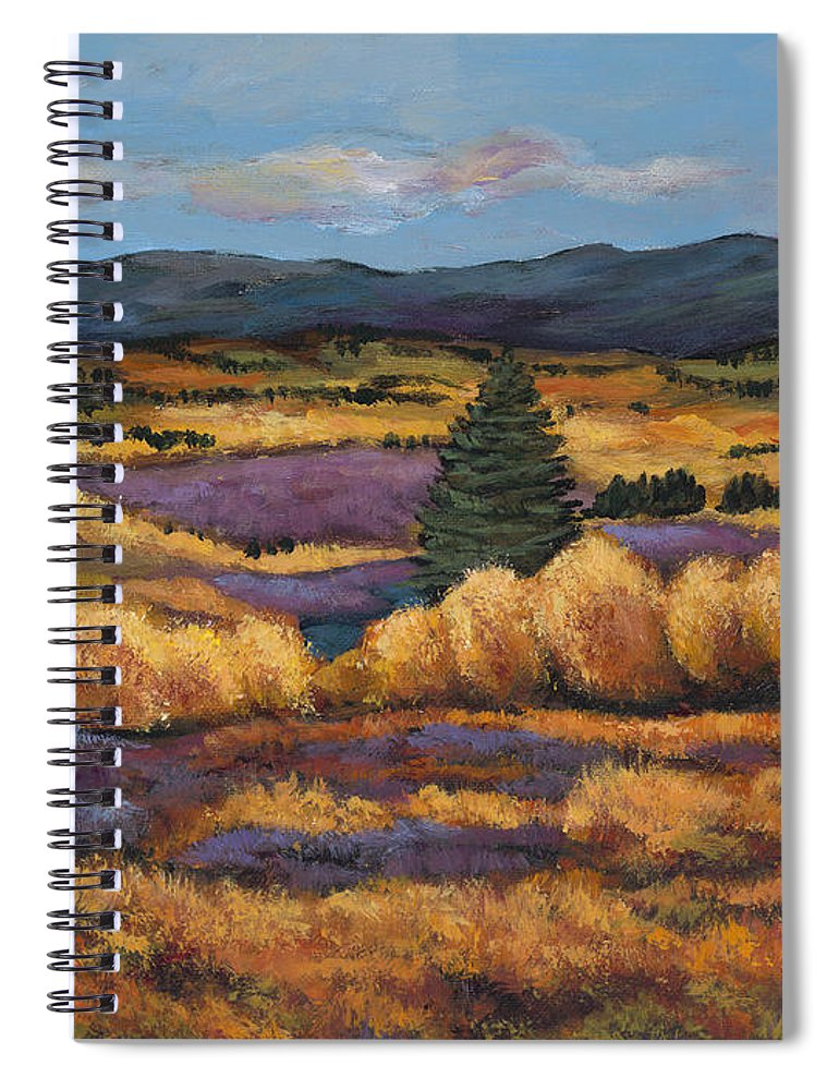 Autumn Aspen Spiral Notebook featuring the painting Colorado by Johnathan Harris