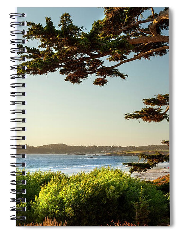 Scenics Spiral Notebook featuring the photograph Colorful Beachfront In Carmel-by-the-sea by Pgiam