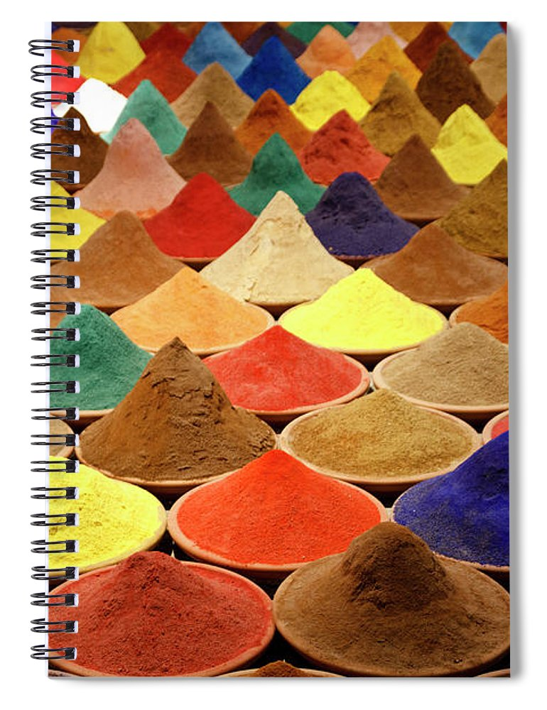 Heap Spiral Notebook featuring the photograph Colorful Spices by Gabriele Kahal - Www.flickr.com/photos/gabrielekahal