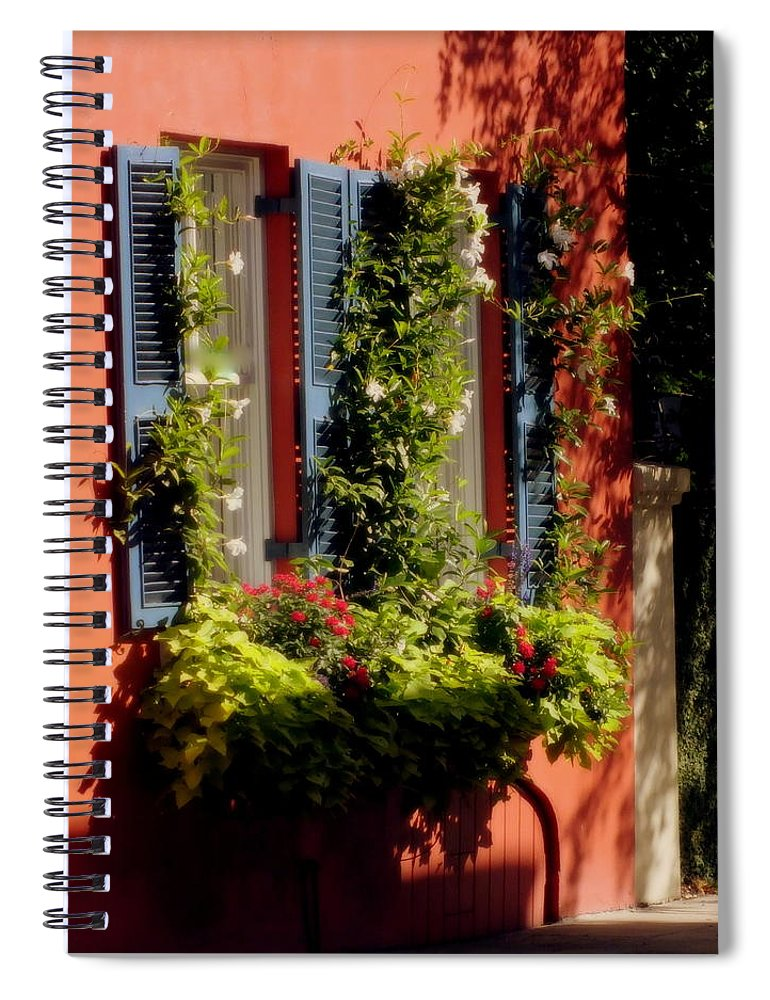 Charleston Spiral Notebook featuring the photograph Come To My Window by Karen Wiles