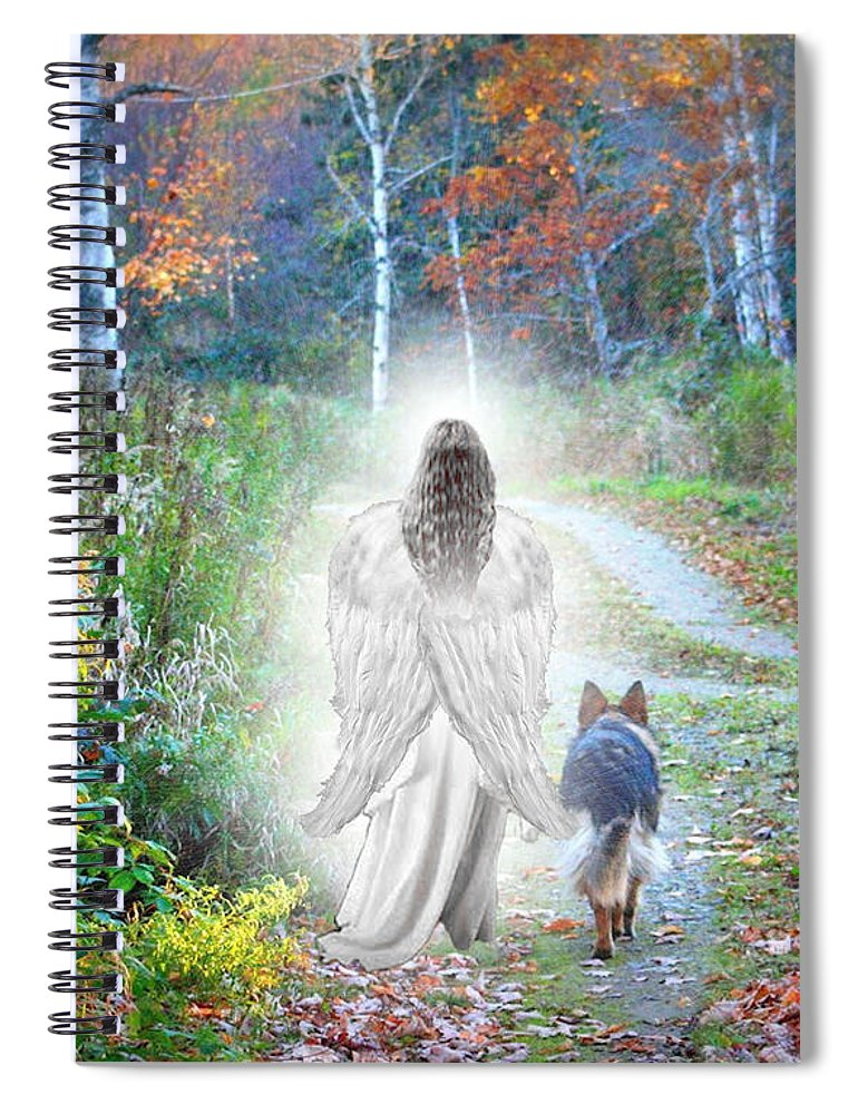German Shepherd Spiral Notebook featuring the photograph Come Walk With Me by Sue Long