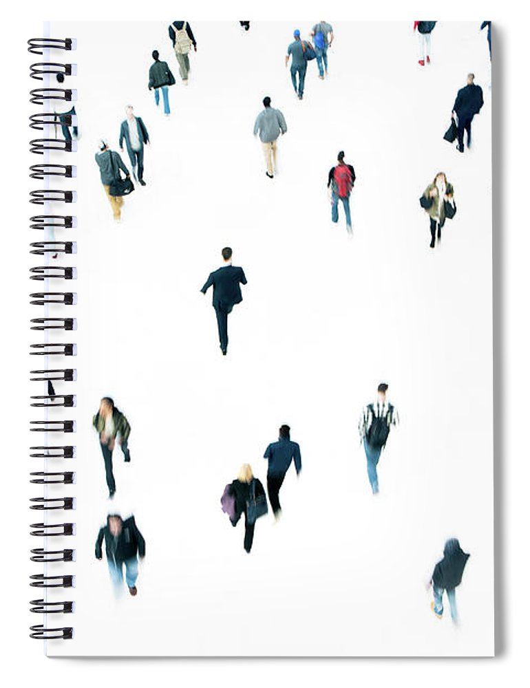 Working Spiral Notebook featuring the photograph Commuters by Ferrantraite