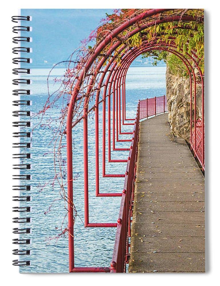 Non-urban Scene Spiral Notebook featuring the photograph Como District Lake, Varenna by Deimagine