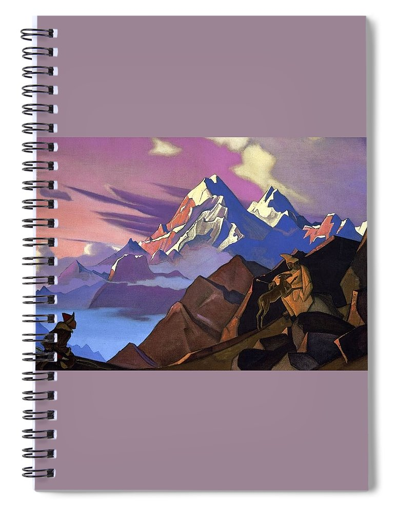 1936 Spiral Notebook featuring the painting Compassion by Nicholas Roerich