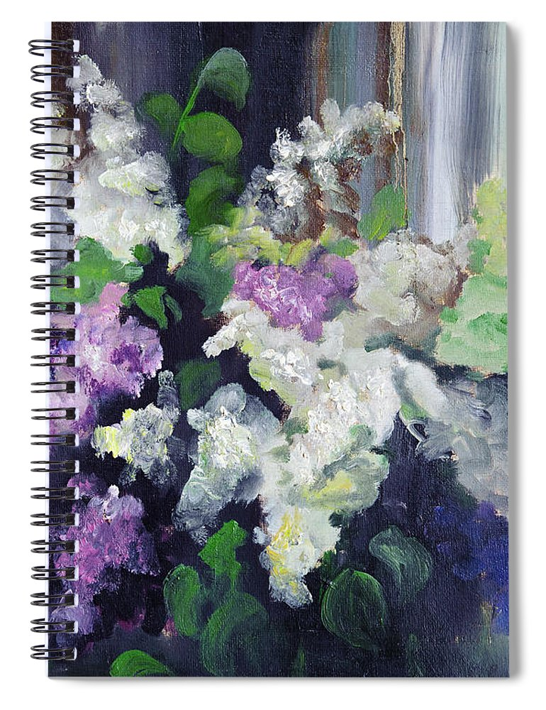 Art Spiral Notebook featuring the digital art Composition Of Lilac by Balticboy