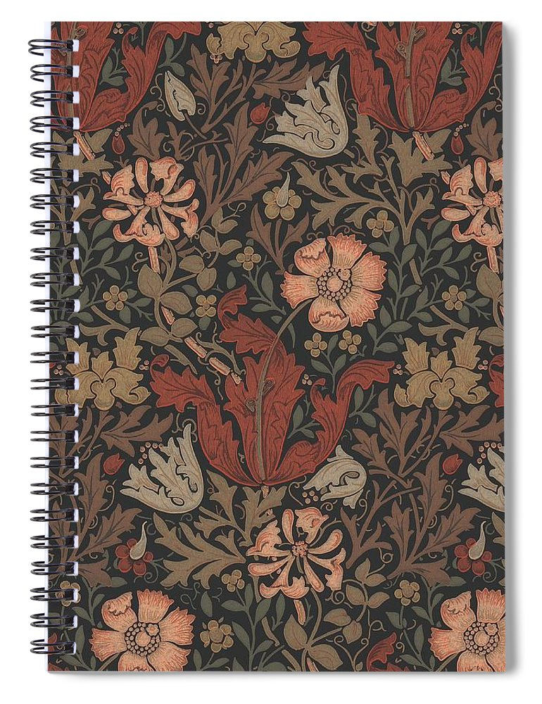 William Spiral Notebook featuring the tapestry - textile Compton Design by Philip Ralley
