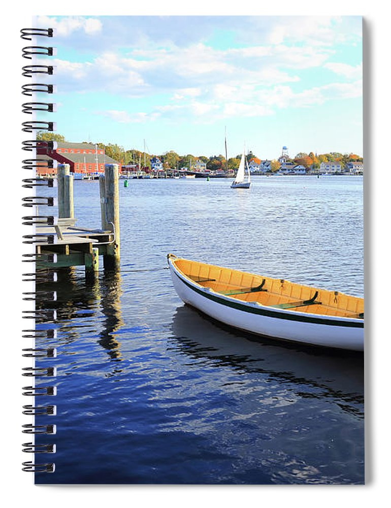 Steps Spiral Notebook featuring the photograph Connecticut Mystic Seaport by Shunyufan