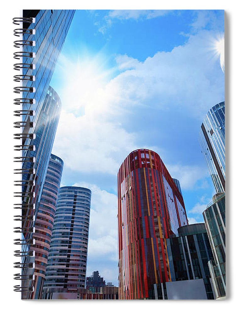 Chinese Culture Spiral Notebook featuring the photograph Contemporary Building by Ithinksky