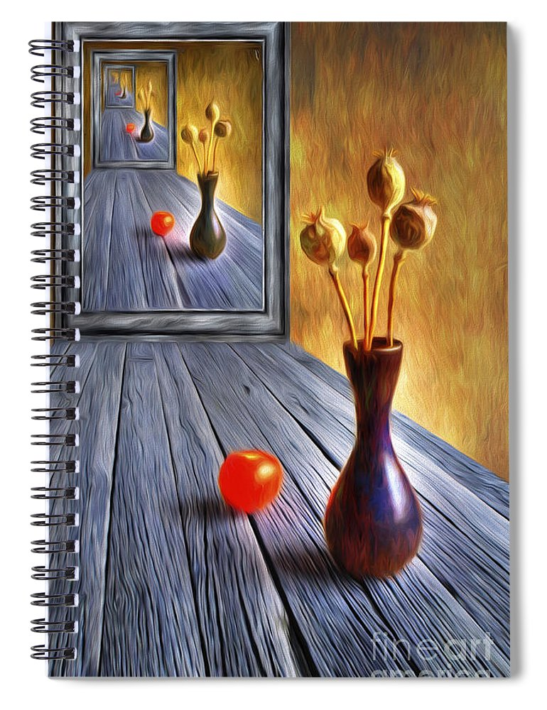 Art Spiral Notebook featuring the painting Continued... by Veikko Suikkanen