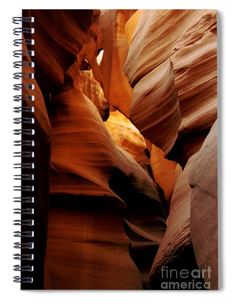 Antelope Canyon Spiral Notebook featuring the photograph Convolusions by Kathy McClure
